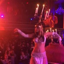 belly dance fire candelabra