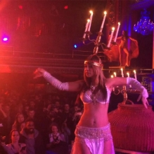 Belly Dance Fire Candelabra