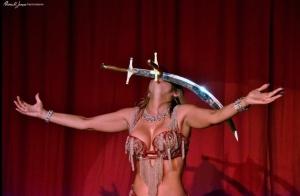 los angeles belly dancer swords